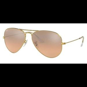 Ray-Ban LARGE Metal Frame Gold/pink Aviators